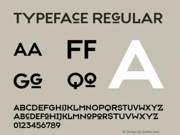 Typeface Regular Version 001.000 Font Sample