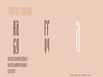 Typeface FourTwo Version 001.000 Font Sample