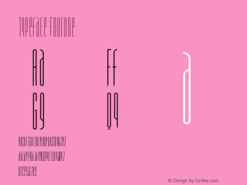 Typeface FourOne Version 001.000 Font Sample