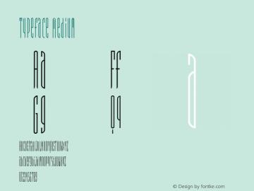 Typeface Medium 001.000 Font Sample