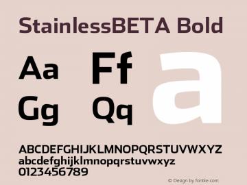 StainlessBETA Bold Version 001.000 Font Sample