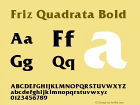 Friz Quadrata Bold Altsys Fontographer 3.5  11/25/92 Font Sample