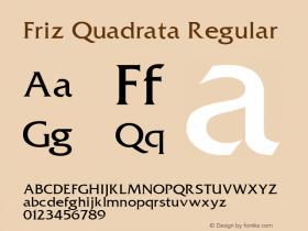Friz Quadrata Regular Altsys Fontographer 3.5  11/25/92 Font Sample