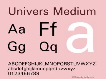 Univers Medium Version 1.3 (Hewlett-Packard)图片样张