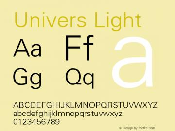 Univers Light Macromedia Fontographer 4.1 9/19/98 Font Sample