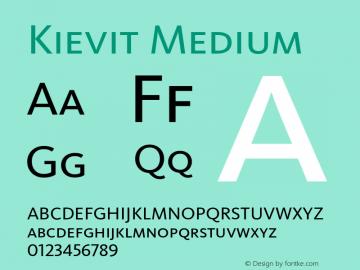 Kievit Medium 001.000图片样张