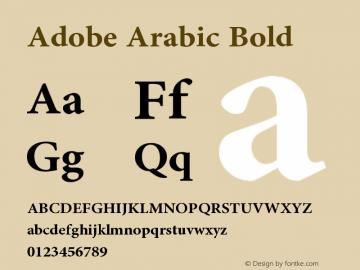 Adobe Arabic Font,AdobeArabic-Bold Font,Adobe Arabic Bold