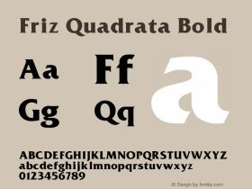 Friz Quadrata Bold 001.000 Font Sample