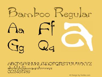 Bamboo Regular Altsys Fontographer 3.5  11/26/92 Font Sample