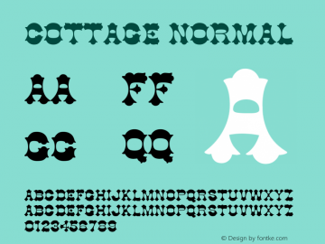 Cottage Normal Version 1.0 Font Sample