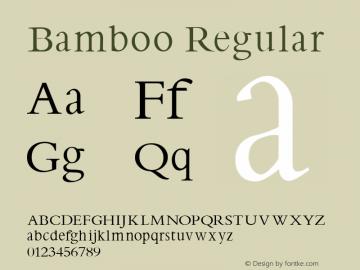 Bamboo Regular 1.0 2004-10-09 Font Sample