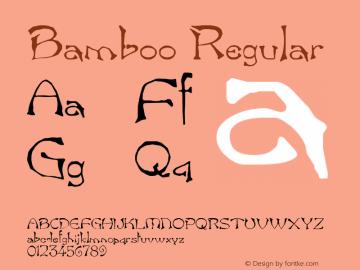 Bamboo Regular Altsys Fontographer 3.5  11/23/92 Font Sample
