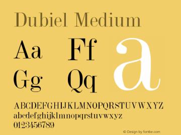 Dubiel Medium Version 001.001 Font Sample