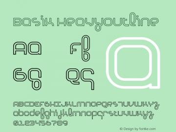 Basix HeavyOutline Version 001.000图片样张