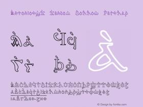 AntoniousJ Jencom Hollow Regular Converted from C:\WINDOWS\SYSTEM\COURIERJ.HF1 by ALLTYPE Font Sample