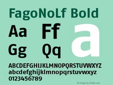 FagoNoLf Bold 001.000 Font Sample