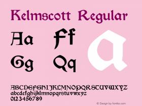 Kelmscott Regular Altsys Fontographer 3.5  12/3/92图片样张