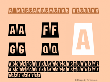 a_MeccanoCmCtAb Regular Version 1.0; 1999; initial release图片样张