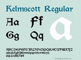 Kelmscott Regular Altsys Fontographer 3.5  10/24/92图片样张