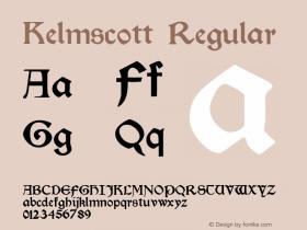 Kelmscott Regular Altsys Fontographer 4.0.3 22.05.1994图片样张