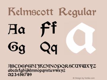 Kelmscott Regular Altsys Fontographer 4.0.3 22.05.1994 Font Sample