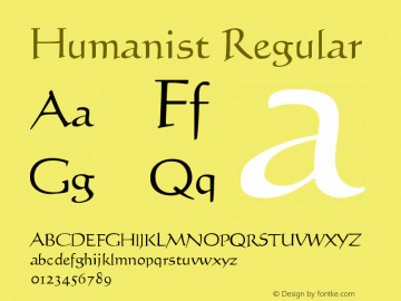 Humanist Regular Version 001.000图片样张