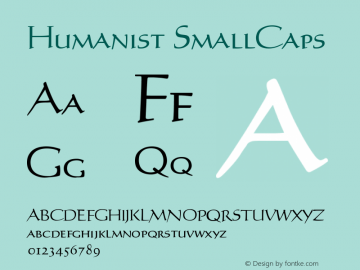Humanist SmallCaps Version 001.000图片样张