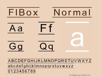 FIBox Normal 1.0 Sat Dec 05 17:45:48 1992 Font Sample
