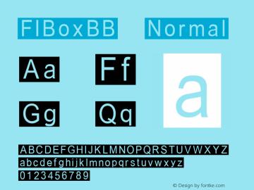 FIBoxBB Normal 1.0 Sat Dec 05 22:26:47 1992 Font Sample