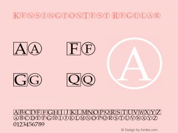 KensingtonTest Regular Altsys Fontographer 3.5  12/8/92 Font Sample