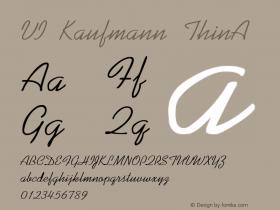 VI Kaufmann ThinA 1.0 Mon Nov 09 23:21:19 1992 Font Sample