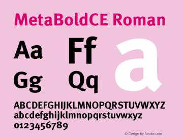 MetaBoldCE Roman Version 001.000 Font Sample
