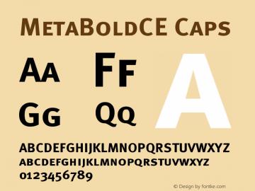 MetaBoldCE Caps Version 001.000 Font Sample