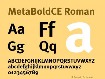 MetaBoldCE Roman 001.000 Font Sample