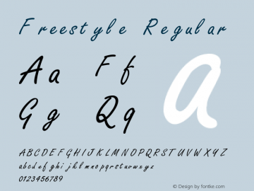 Freestyle Regular 001.000 Font Sample