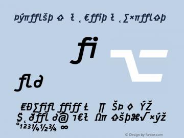 Typestar BlackItalicExpert Version 001.000 Font Sample