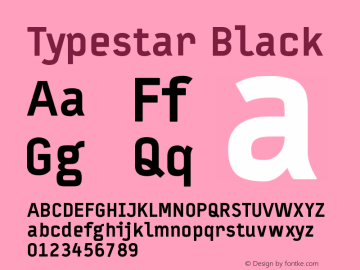 Typestar Black Version 001.000 Font Sample