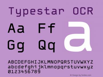 Typestar OCR Version 001.000 Font Sample