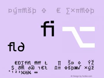 Typestar OCRExpert Version 001.000 Font Sample