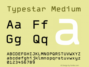 Typestar Medium 001.000 Font Sample