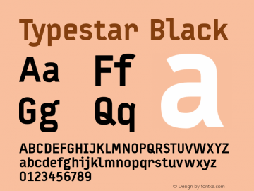 Typestar Black 001.000 Font Sample