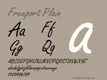 Freeport Plain 001.003 Font Sample