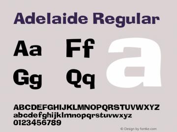 Adelaide Regular Unknown Font Sample