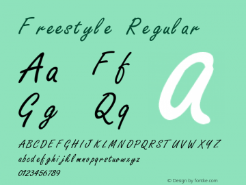 Freestyle Regular 3.1 Font Sample