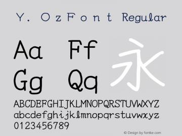 Y.OzFont Regular Version 9.41图片样张