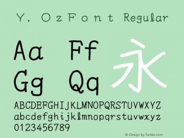 Y.OzFont Regular Version 6.20图片样张