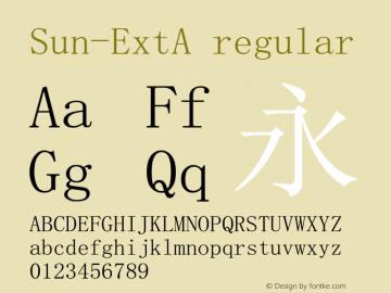 Sun-ExtA regular Version 4.00 Font Sample