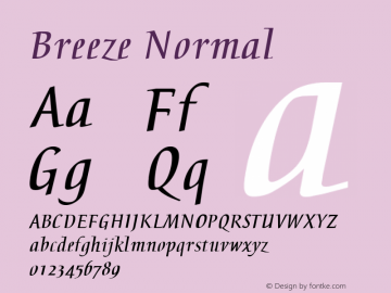 Breeze Normal 3.1 Font Sample