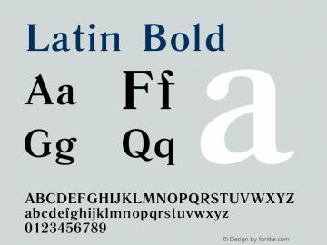Latin Bold Version 14 - 26.09.2006 Font Sample
