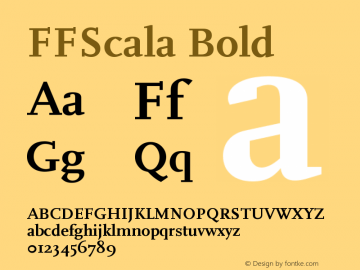 FFScala Bold Version 001.001 Font Sample